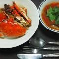 No.64ワタリガニのニンニク・バター炒め&トマトいっぱいのスープ