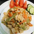 No.62鶏肉・高野豆腐を使ったゴーヤチャンプル